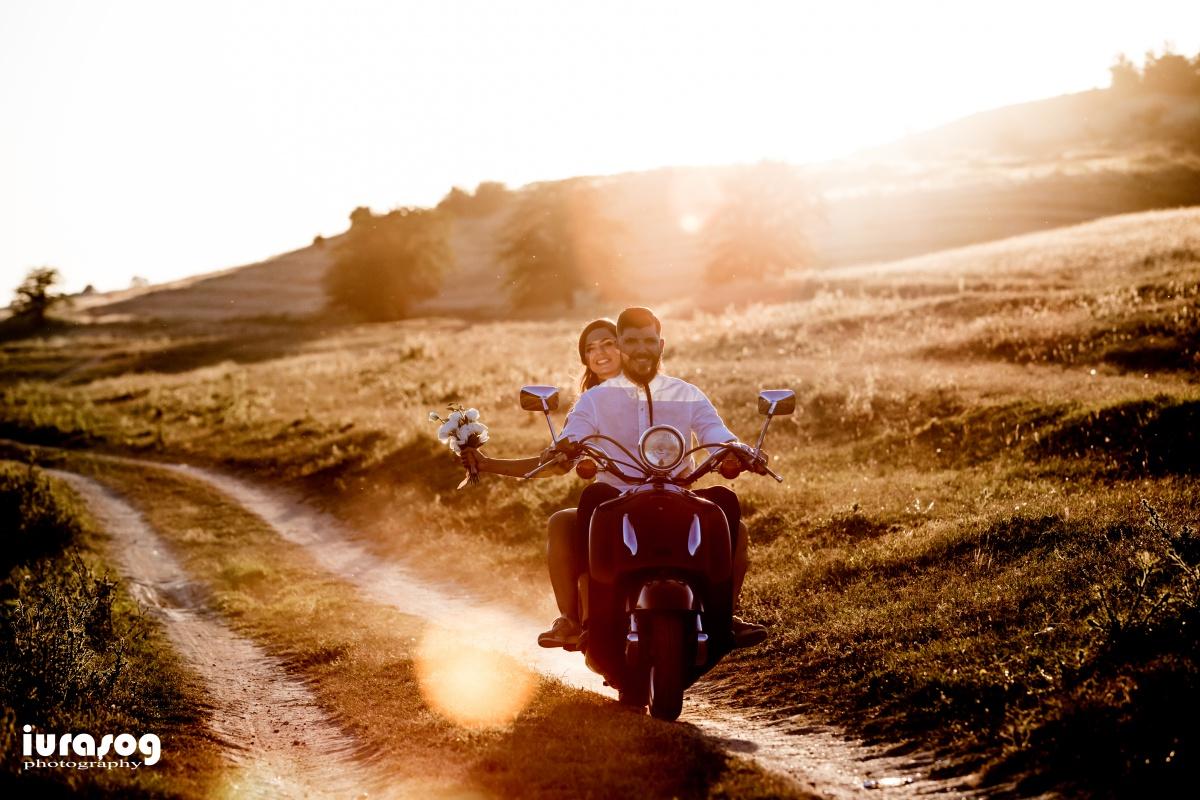 sedinta foto miri scooter pe drum