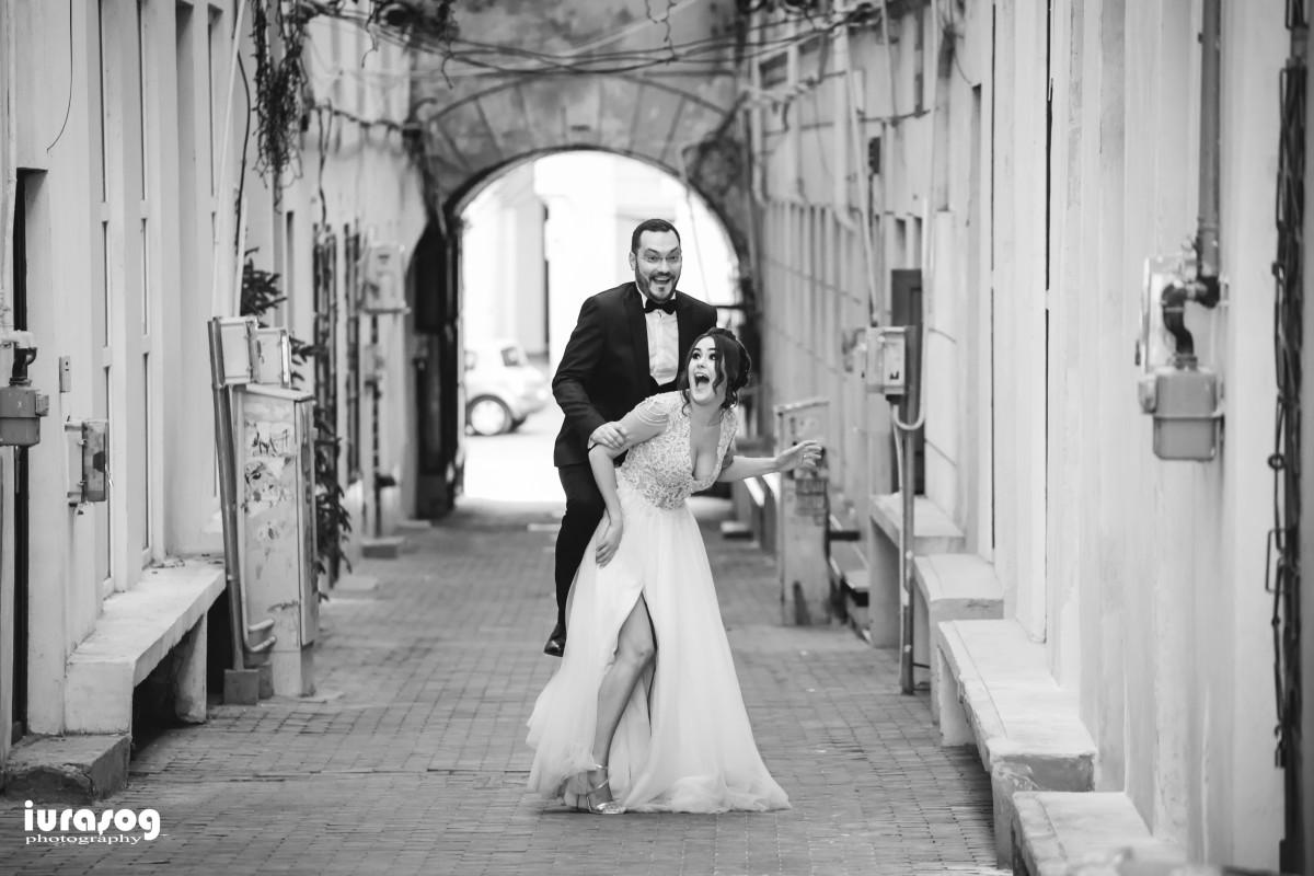 nunta Adelina si Stefan mireasa si mirele in gang