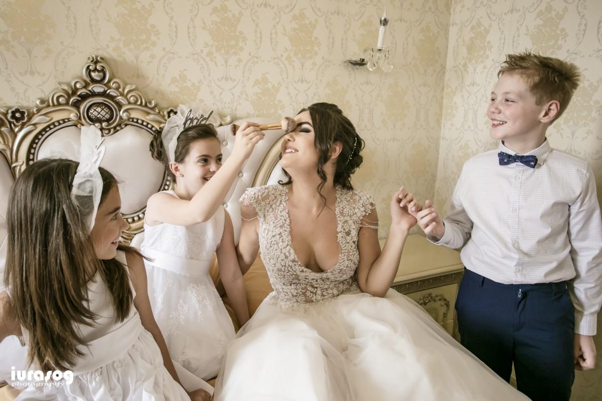 nunta Adelina si Stefan mireasa pregatita de copii