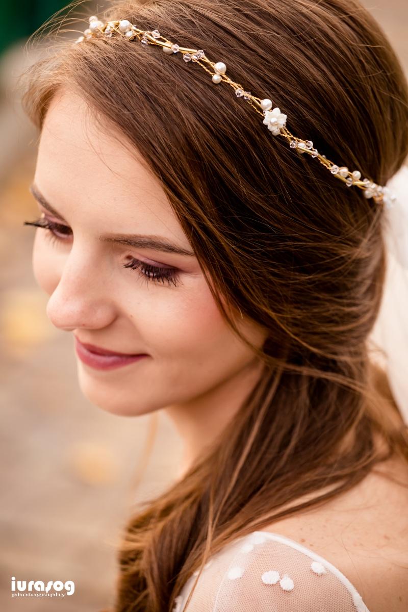 diadema mireasa fotograf craiova nunta Irina si Stefan